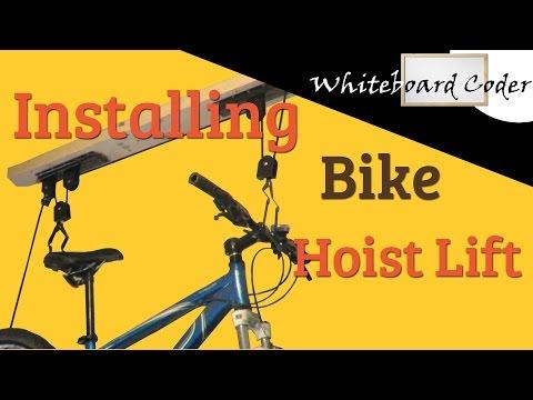 Installing Garage Bike Lift Hoist (RAD)