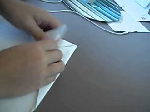 How to make a Shark paper plane starring Michael and Oliver