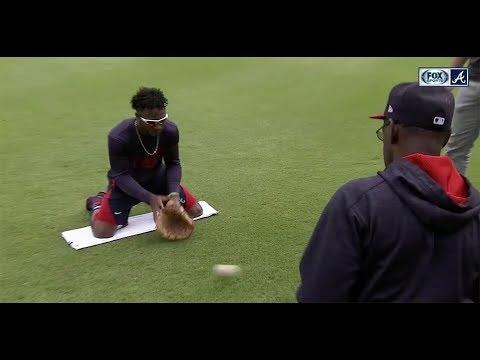 Chopcast LIVE: Ron Washington runs Braves rookie Ozzie Albies through fielding drills