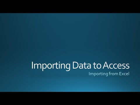 Importing Excel Data into Access 2013
