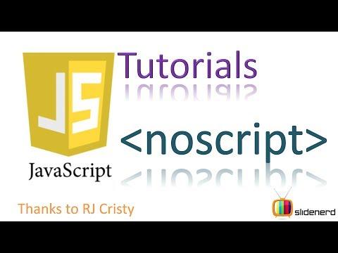 10 JavaScript NOSCRIPT tutorial |