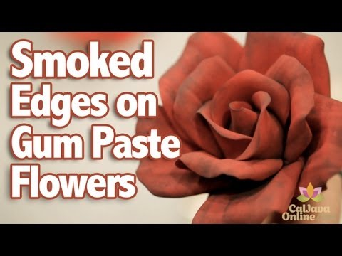 How to Add Smoked Edges to Gum Paste Flowers | Cake Tutorial