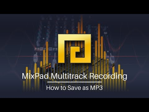 MixPad Audio Mixing Software Tutorial   How to Save as MP3