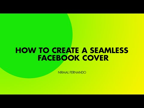 How to create a Seamless  and Creative Facebook Cover