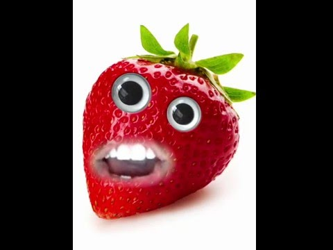 Clean teeth strawberry