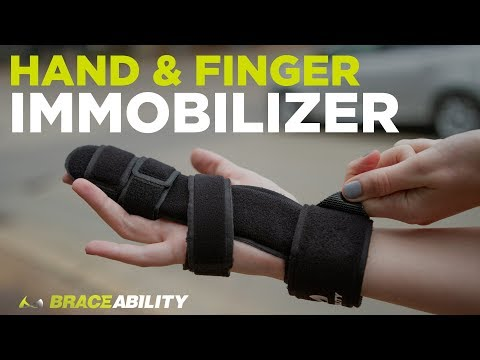 Hand & Finger Immobilizer: Fractured Index, Middle, Ring & Pinky Treatment with Broken Knuckle Brace