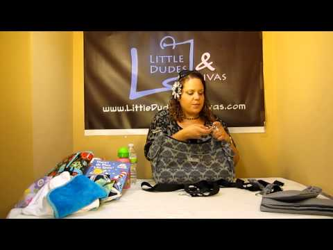 The Bumble Collection Taylor Convertible Diaper Bag How to use the Straps