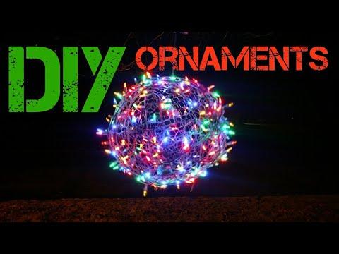 How to make Christmas light balls.