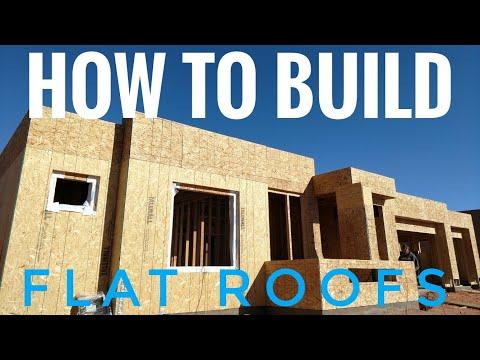 Flat roof framing diy