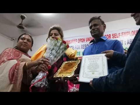 Vishwakarma Open University Doctorate Honour Convocation 2017(5)Dr Monika