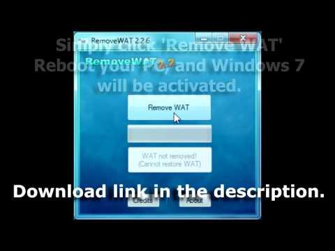 RemoveWAT (2.26) - Windows 7 Activator (Removes Windows Genuine)