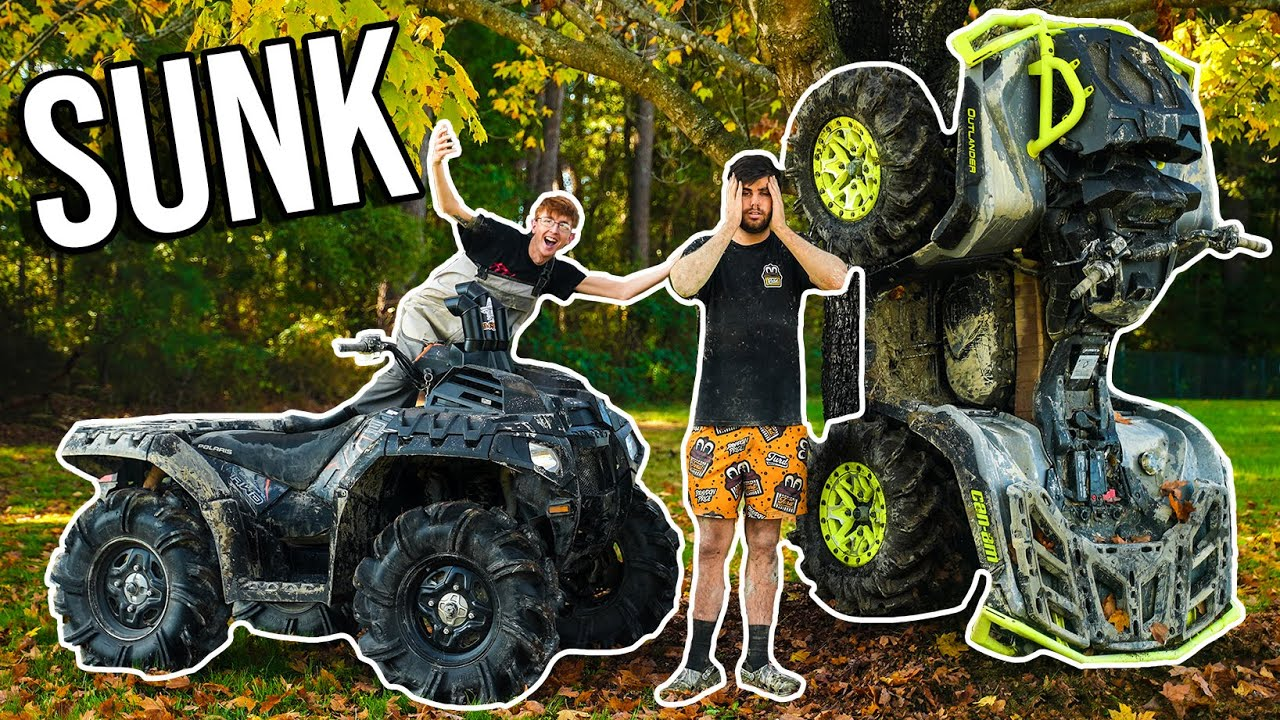 I SUNK MY 2020 CAN-AM OUTLANDER! Polaris Vs Can-Am *GONE WRONG*