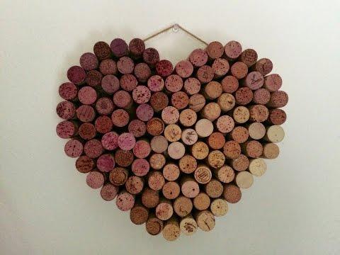 DIY Valentine's Day Wreath Using Wine Corks
