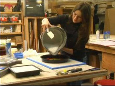How to Make Stained Glass Stepping Stones : How to Pour Grout for Stained Glass Stepping Stones
