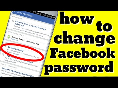 How to change facebook password in mobile,change fb password, 2018