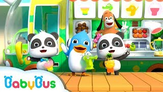 Baby Panda Makes Rainbow Fruit Juice   Ice Cream, Birthday Cake   Kids Song   BabyBus Cartoon