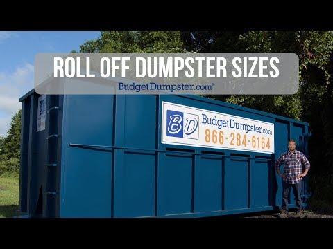 Roll Off Dumpster Sizes | Budget Dumpster