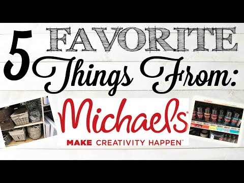 5 FAVORITE Craft Supplies From Michael's Craft Store