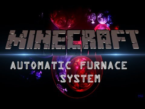 Minecraft How To Make An Automatic Furnace and Minecart System