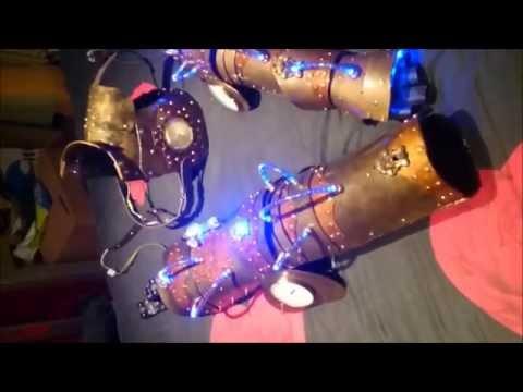 Steampunk Inspired armor Arm, Chest, Leg
