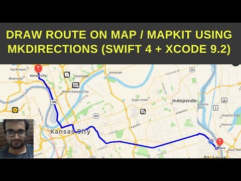 Draw route and directions on Mapkit (Swift 4 + Xcode 9.2)