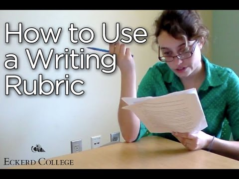 How to Use a Writing Rubric - Eckerd College
