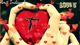 F letter love whatsapp status video - PakVim net HD Vdieos