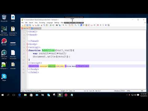 19 How To Call Function With HTML Tag In JavaScript In Hazaragi Language