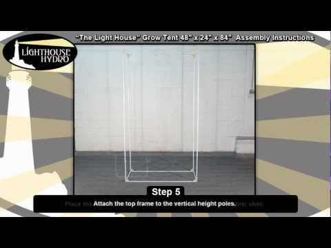 Lighthouse Hydro Grow Tent - 4' x 2' x 7' Assembly Instructions