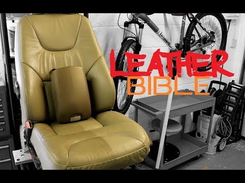 How to clean leather car seats - Guide to automotive leather and vinyl cleaning and protection