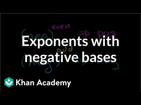 Exponents with negative bases | 7th grade | Khan Academy