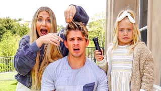 MY WIFE AND 7 YEAR OLD DAUGHTER CUT MY HAIR HOWEVER THEY WANT!!! *Terrible Idea*