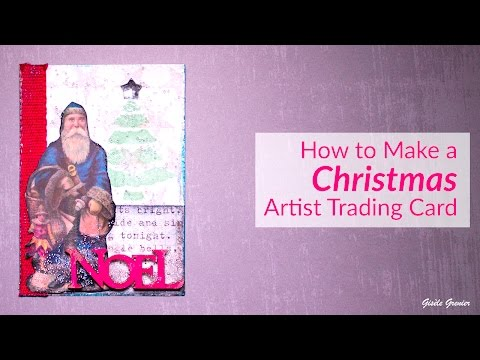 🎄 How to Make a Unique Christmas Artist Trading Card 🎄