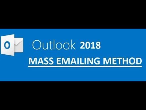 How to Send Mass Email in Outlook - Personalise email in outlook- 2018