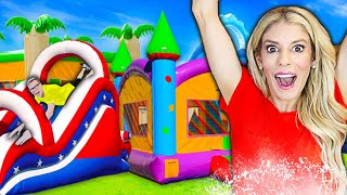 We Turned Our BACKYARD into a Giant WATERPARK For 24 HOURS! Game Master challenge | Rebecca Zamolo