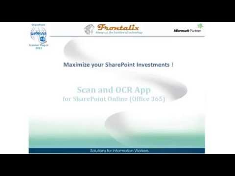 Scan and OCR App for SharePoint Online (Office 365)