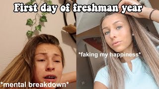 first day of highschool: GET READY WITH ME
