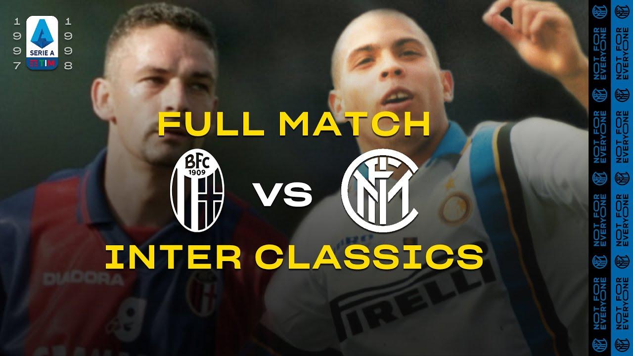 INTER CLASSICS   FULL MATCH   BOLOGNA vs INTER   BAGGIO vs RONALDO   1997/98 SERIE A ⚫🔵🇮🇹