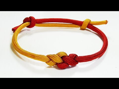 Paracord Tutorial: Adjustable Two Color Eternity Knot Paracord Friendship Bracelet