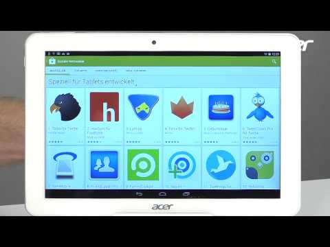 Acer Iconia Tablets  - 05 Playstore, Apps finden & installieren