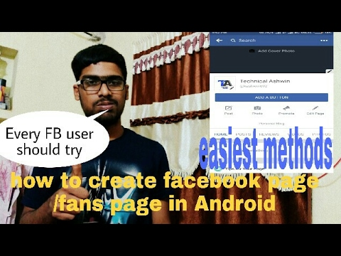 How create own Facebook page in Android/fans page