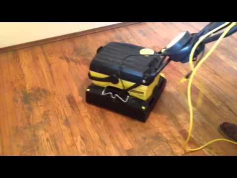 Wood Floor Cleaning Demo on Old Wood Floors