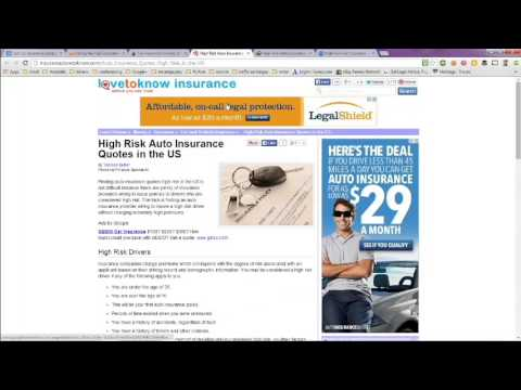 Auto Insurance for High Risk Drivers -- Best Companies Nationwide