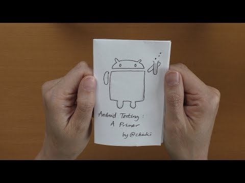 How to fold the Android Testing Primer zine