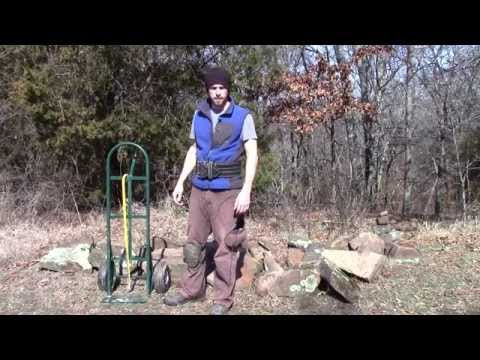 Building a Cob House Stone Masonry Foundation - Collecting Stones