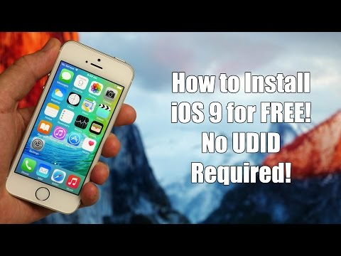 How to Install iOS 9 For Free with No UDID Registration!