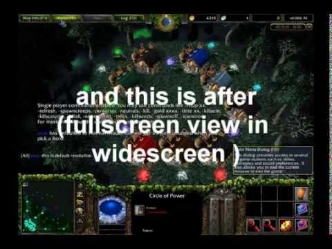 warcraft 3 fullscreen