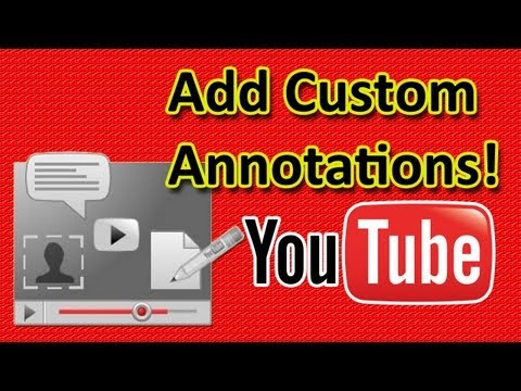 How To Add Custom IMAGE Annotations on YouTube Videos!