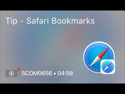 SCOM0656 - Tip - Safari Bookmarks