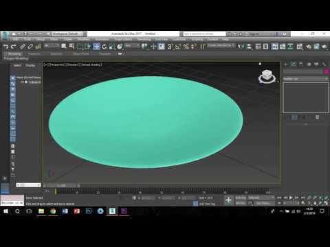 Modeling plate 3ds Max 2017 - Easy Tutorial